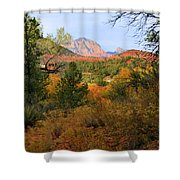 Autumn In Red Rock Canyon Shower Curtain