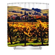 Autumn In The Valley 2 - Digital Painting Shower Curtain