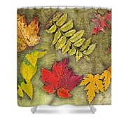 Autumn Leaf Collage Shower Curtain