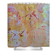 Autumn Leaf Splatter Shower Curtain