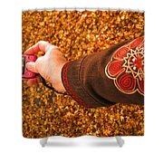 Autumn Leaves Times Two Shower Curtain