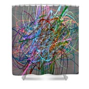 Autumn Likes Lines Shower Curtain by Michelle Calkins