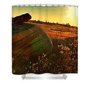 Autumn Morn In The Berry Field Shower Curtain