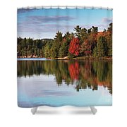 Autumn Nature Lake And Trees Shower Curtain