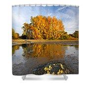 Autumn Nest Shower Curtain