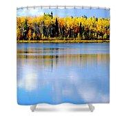 Autumn On Chena Lake L Shower Curtain