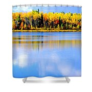 Autumn On Chena Lake Ll Shower Curtain