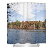 Autumn On Mill Pond Shower Curtain