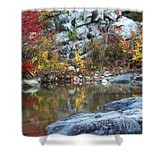 Autumn On The Black River 1 Shower Curtain