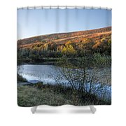 Autumn Pond 3 Shower Curtain
