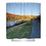 Autumn Pond 5 Shower Curtain