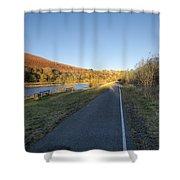 Autumn Pond 8 Shower Curtain