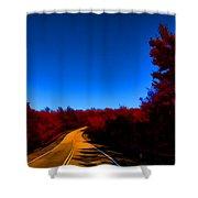 Autumn Red Shower Curtain by Douglas Barnard