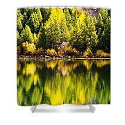 Autumn Reflection In Georgetown Lake Colorado Shower Curtain