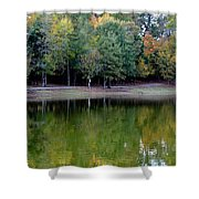 Autumn Reflections Upon Dark Waters Shower Curtain