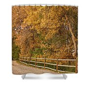 Autumn  Road To The Ranch Shower Curtain