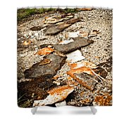 Autumn Rusted Shower Curtain