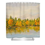 Beyond The Hills Shower Curtain