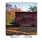 Autumn Shed Shower Curtain