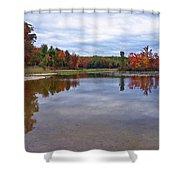 Autumn Shoreline Shower Curtain