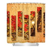 Autumn Sunrise Painterly Abstract Shower Curtain by Andee Design