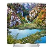 Autumn Valley Landscape Shower Curtain