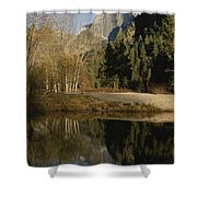 Autumn View Of The Park With Half Dome Shower Curtain