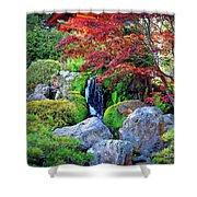 Autumn Waterfall - Digital Art Shower Curtain