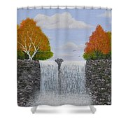 Autumn Waterfall Shower Curtain