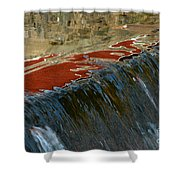 Autumn Waterfall Reflections Shower Curtain