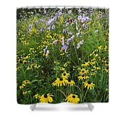 Autumn Wildflowers - D007762 Shower Curtain by Daniel Dempster