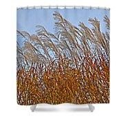 Autumn Wind Through The Grass Shower Curtain
