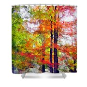 Autumnal Rainbow Shower Curtain