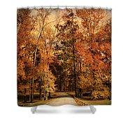 Autumn's Entrance Shower Curtain by Jai Johnson