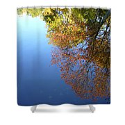 Autumn's Watery Reflection Shower Curtain