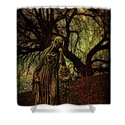 Ave Maria Full Of Sorrows Shower Curtain
