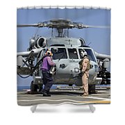 Aviation Boatswain's Mates Run Shower Curtain