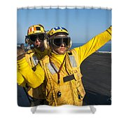 Aviation Boatswain Mates Direct An Shower Curtain