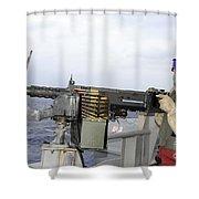 Aviation Ordnanceman Fires Shower Curtain