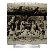 Away In The Manger Shower Curtain