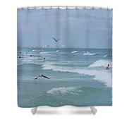 Awesome Day At The Beach Shower Curtain