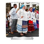 Azorean Folk Music Group Shower Curtain