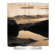 Azores Islands Seascape Shower Curtain