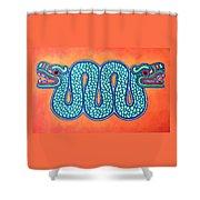 Aztec Gold Shower Curtain