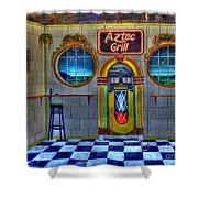Aztec Grill Route 66 Shower Curtain