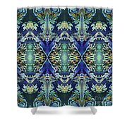 Azuraz Candle Tiled Shower Curtain
