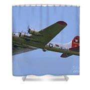 B-17g Aluminum Overcast Shower Curtain