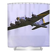 B-17g Liberty Belle Approach 8x10 Special Shower Curtain by Tim Mulina