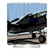 B-25 Bomber Shower Curtain