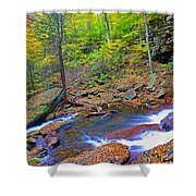 B Reynolds Falls Panorama Shower Curtain